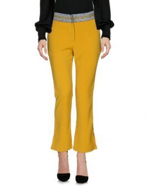 Повседневные брюки SISTER JANE. Цвет: охра