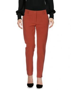 Повседневные брюки SOUVENIR. Цвет: ржаво-коричневый
