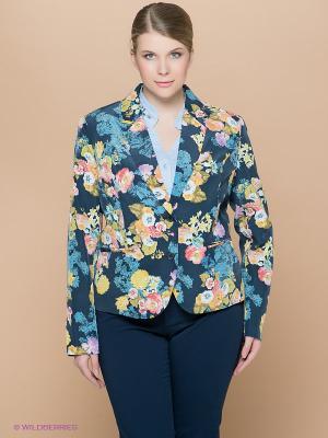 Пиджак Fiorella Rubino. Цвет: темно-синий