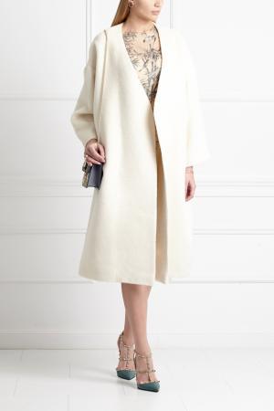 Шерстяное пальто Masterpeace. Цвет: белый