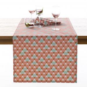 Дорожка столовая Acilia La Redoute Interieurs. Цвет: розовый/ серый