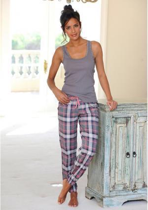 Пижамные брюки Victoria H.I.S.. Цвет: темно-серый в клетку