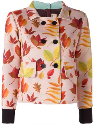 Double breasted cropped jacket Arthur Arbesser. Цвет: розовый и фиолетовый
