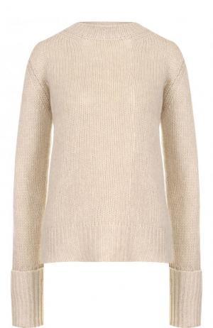 Однотонный кашемировый пуловер фактурной вязки The Row. Цвет: бежевый