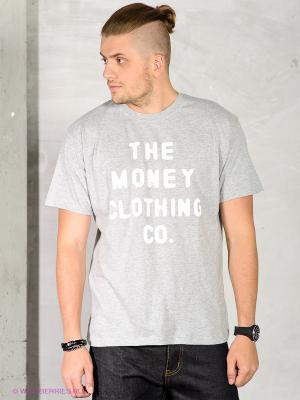 Футболка Money. Цвет: серый меланж
