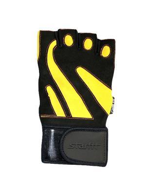 Перчатки атлетические STARFIT SU-121,. Цвет: черный, желтый