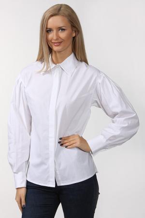 Блуза с отложным воротником Re Vera. Цвет: белый