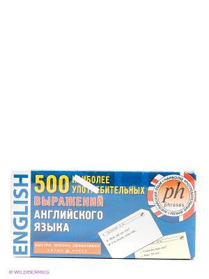 Карточки. 500 наиболее употребительных выражений англ.яз АЙРИС-пресс. Цвет: синий