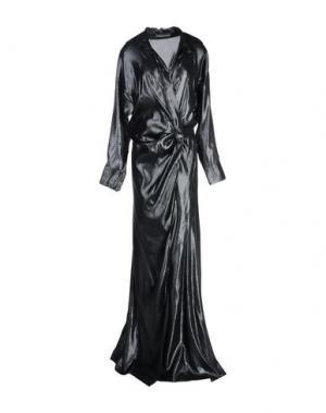 Длинное платье ALEXANDRE VAUTHIER. Цвет: черный