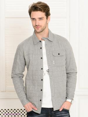 Рубашка VOI JEANS. Цвет: серый