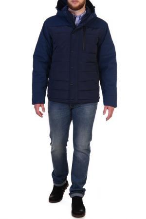 Куртка с застежкой на молнию и кнопки XASKA. Цвет: синий