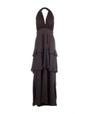 Длинное платье PHILOSOPHY DI LORENZO SERAFINI. Цвет: черный