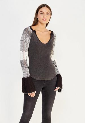 Пуловер Free People. Цвет: серый