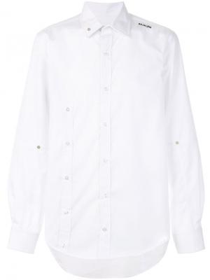 Асимметричная рубашка Icosae. Цвет: белый