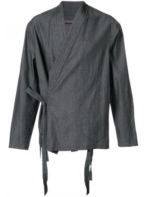 Рубашка-кимоно с запахом Siki Im. Цвет: чёрный