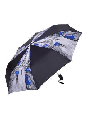 Зонт NUAGES. Цвет: черный, серый, синий