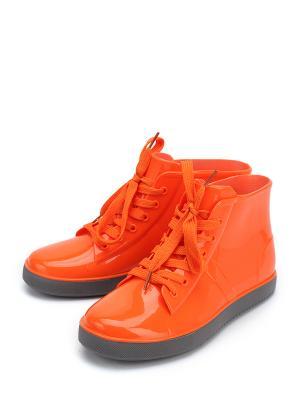 Резиновые сапоги KEDDO. Цвет: оранжевый