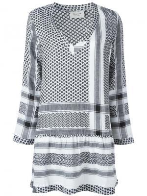 Платье с V-образным вырезом и узором Cecilie Copenhagen. Цвет: чёрный