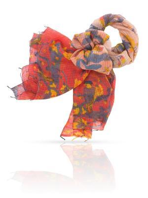 Палантин MICHEL KATANA`. Цвет: красный, золотистый, серо-голубой