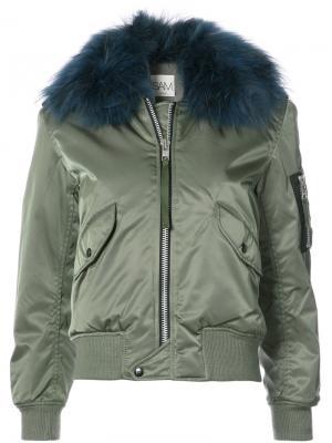 Куртка-бомбер Carly Sam.. Цвет: зелёный