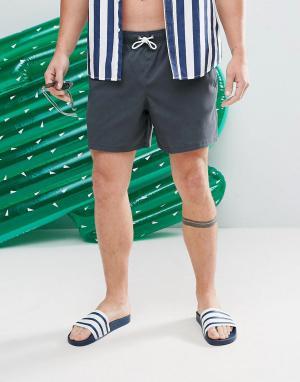 Abercrombie & Fitch Черные шорты для плавания 5. Цвет: черный