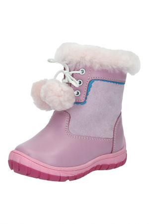 Сапоги утепленные Зебра. Цвет: розовый