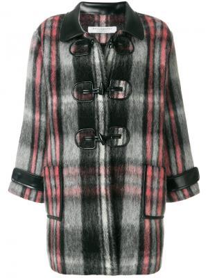 Клетчатое пальто в стиле оверсайз Philosophy Di Lorenzo Serafini. Цвет: многоцветный