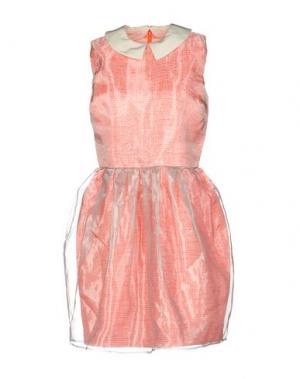 Короткое платье RAOUL. Цвет: оранжевый