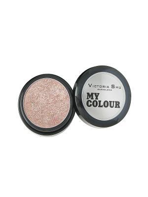 Тени для век My colour, тон №520 Victoria Shu. Цвет: бледно-розовый
