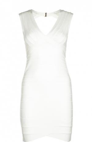 Платье Herve Leger. Цвет: белый