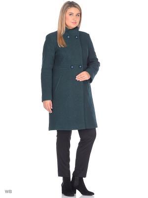Пальто Almatti. Цвет: темно-зеленый