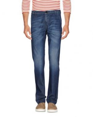 Джинсовые брюки DNM-BRAND. Цвет: синий