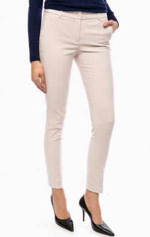 Трикотажные зауженные брюки Kocca. Цвет: молочный
