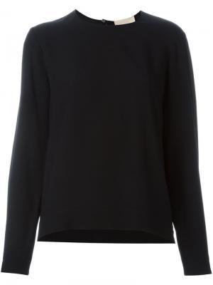 Блузка с застежкой замочная скважина Erika Cavallini. Цвет: чёрный