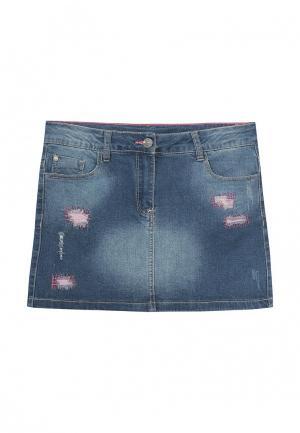 Юбка джинсовая Blukids. Цвет: синий