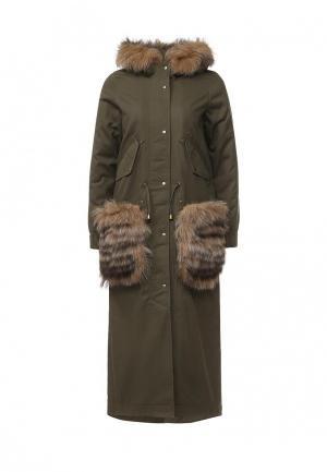 Куртка утепленная V&Florence. Цвет: хаки