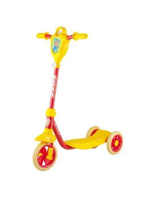 Самокат городской Foxx Baby с пластиковой платформой и EVA колесами 115мм (и.упак.), щиток, ультрама. Цвет: желтый,красный