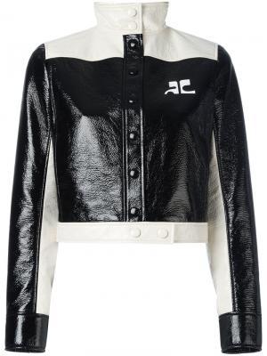 Укороченная куртка Courrèges. Цвет: чёрный
