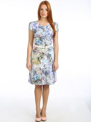 Платье Stilla. Цвет: голубой, розовый, желтый, зеленый