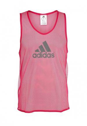 Майка adidas Performance. Цвет: розовый