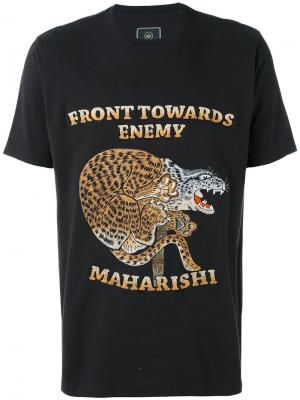 Футболка Crouching Tiger Maharishi. Цвет: чёрный