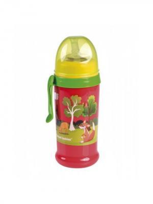 Поильник-непроливайка спортивный с трубочкой и крышкой, 350 мл, 12+, цвет: красный Canpol babies. Цвет: красный
