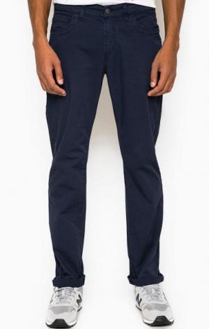 Синие брюки прямого кроя BIKKEMBERGS. Цвет: синий
