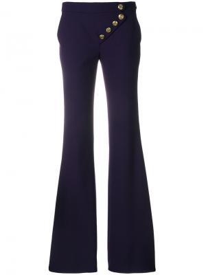 Асимметричные расклешенные брюки Chloé. Цвет: розовый и фиолетовый