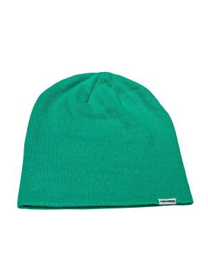 Шапка SOLID SLOUCH 2 IN 1 BEANIE Converse. Цвет: зеленый