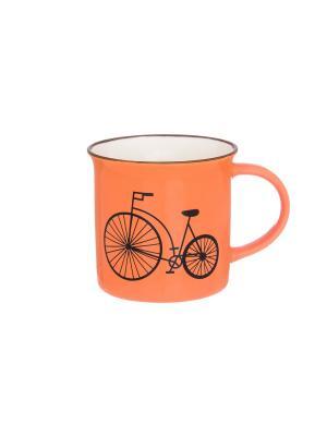 Кружка Велосипед Elan Gallery. Цвет: оранжевый
