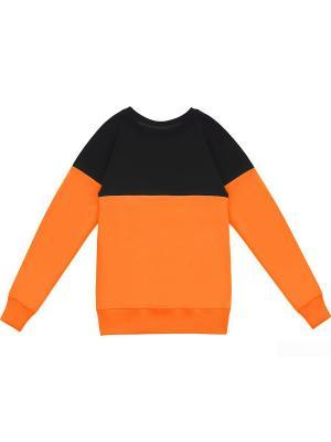 Свитшот Eniland. Цвет: черный, оранжевый