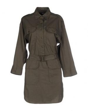 Короткое платье NLST. Цвет: зеленый-милитари