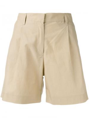 Pleat detail bermudas Masscob. Цвет: телесный