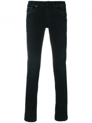 Классические джинсы скинни Dondup. Цвет: синий